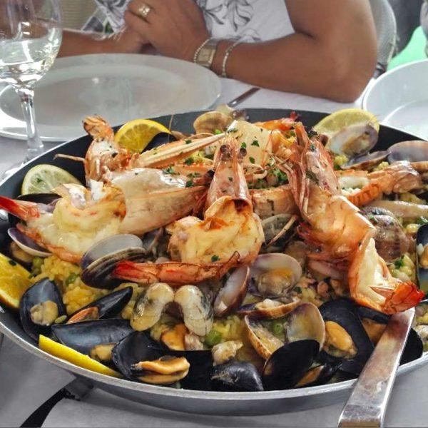 Pesce di mare - Paella ai frutti di mare - Trattoria Onda Blu